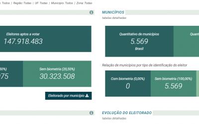 Eleições 2020: TSE disponibiliza página com as estatísticas do eleitorado