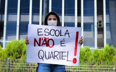 Camila Lanes critica a militarização de 56 escolas de Curitiba