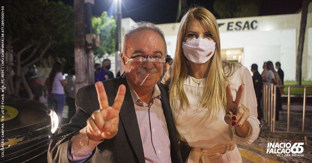 """Inácio Falcão: """"Obrigado, Campina Grande, fizemos uma campanha linda!"""""""