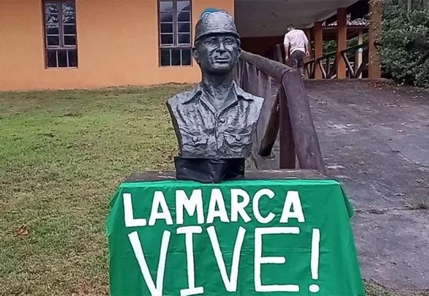 Busto de Carlos Lamarca é instalado na cidade de Cajati